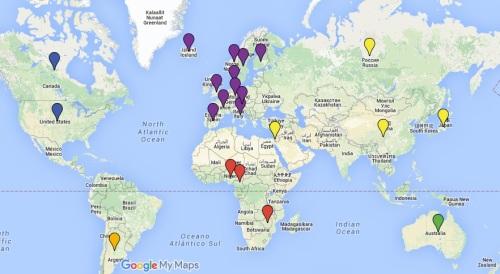 bokdivisionens lästa länder